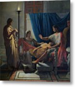 Virgil Reading The Aeneid Metal Print