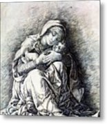 Virgin And Child Madonna Of Humility 1490 Metal Print