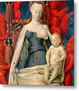 Virgin And Child Surrounded By Angels Metal Print