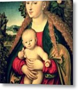 Virgin And Child Under An Apple Tree Metal Print