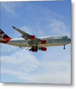 Virgin Atlantic Boeing 747-443 Metal Print