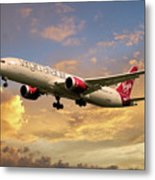 Virgin Atlantic Boeing 787 Dreamliner Metal Print