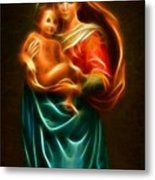 Virgin Mary And Baby Jesus Metal Print