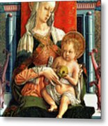 Virgin Mary And Child Metal Print by Carlo Crivelli
