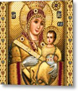 Virgin Mary Of Bethlehem Icon Metal Print by Stoyanka Ivanova