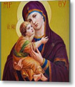 Virgin Of Silver Spring - Theotokos Metal Print