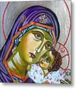 Virgin Of Tenderness Eleusa Metal Print