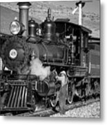 Virginia And Truckee Engine 25 Monochrome Metal Print