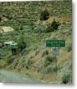 Virginia City Named After Henry Comstock Metal Print