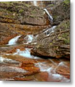 Virginia Fall Glacier Cascades Metal Print