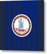 Virginia State Flag Graphic Usa Styling Metal Print