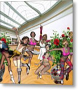 Virtual Exhibition - Dance Of Opening The Exhibition Metal Print