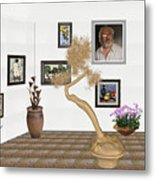 Virtual Exhibition - Statue Of Bonsai 1 Metal Print
