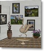 virtual exhibition_Statue of swan 23 Metal Print