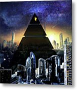 Virtual Law City Metal Print