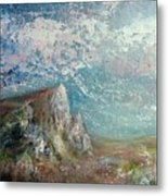 Virtual Mountain Metal Print