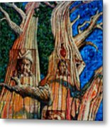Vision Of The Ancient Pine Metal Print