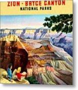Visit Grand Canyon - Restored Metal Print
