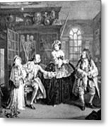 Visit To The Quack Doctor, 1745 Metal Print