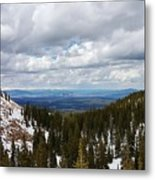Vista With Snow And Red Rock Metal Print