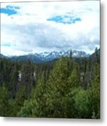 Vistas Along the Alcan Metal Print