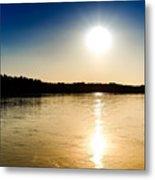 Vistula River Sunset 2 Metal Print by Tomasz Dziubinski