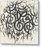 Visual Noise Metal Print