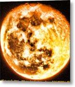 Vivid Full Moon Metal Print