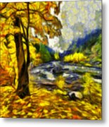 Vivid Pipeline Trail Metal Print