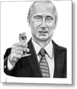 Vladimir Putin Metal Print
