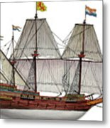 VOC Galleon Metal Print