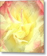 Voice Of The Heart A Rose Portrait Metal Print