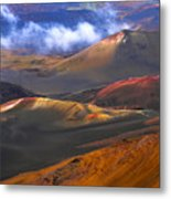 Volcanic Crater In Maui Metal Print