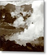 Volcanic Steam Metal Print