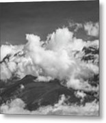 Volcano Chachani In Arequipa Peru Covered By Clouds Metal Print