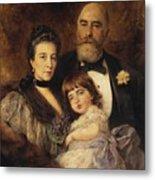 Volkov Manzei Family Makarov. 1890 Metal Print