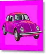 Volkswagen Beetle So Pinks Metal Print