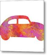 Volkswagom Beetle Art Flames Metal Print