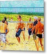 Volleyball At Gordons Pond Metal Print