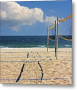 Volleyball Net Metal Print