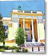 Volusia County Court House Yellow Metal Print