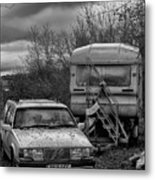 Volvo And Trailer Metal Print
