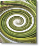 Vortex - River Frays Abstract Metal Print