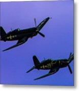 Vought F-4u Corsairs Metal Print