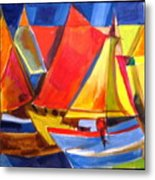 Voyage Of Boats Metal Print