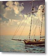 Voyage Of The Cutter Metal Print