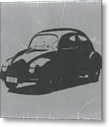 Vw Beetle Metal Print by Naxart Studio