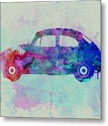 Vw Beetle Watercolor 1 Metal Print