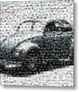 Vw Bug Volkswagen Mosaic Metal Print