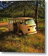 Vw Bus R.i.p. - Br-104 Road - Vw Kombi Metal Print